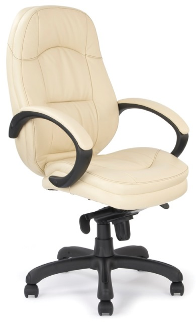 506 Leather Executive Chair, Cream