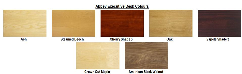 Abbey Executive Desks Colours