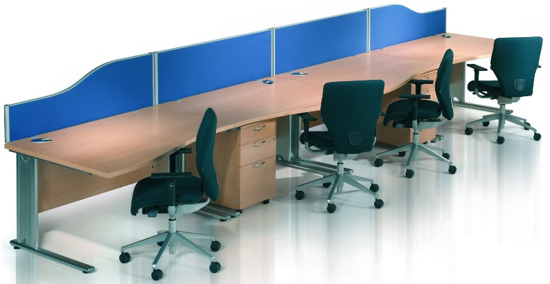 Abbey Executive Modular Cantilever Workstations with Under Desks Pedestals