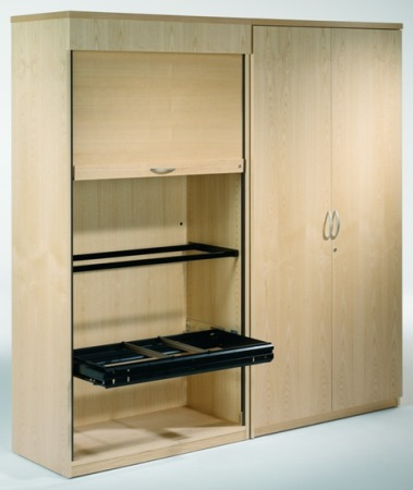 Abbey Executive Tambour and Hinged Door Cupboard