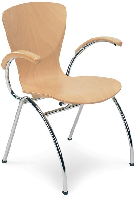 Bingo Wood Bistro Chair with Arms