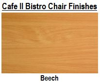 Café II Wooden Bistro Chair Finishes
