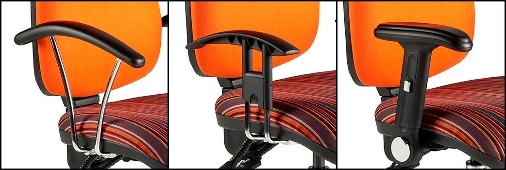 Deluxe High Back Operators Chair Chrome Arm Options