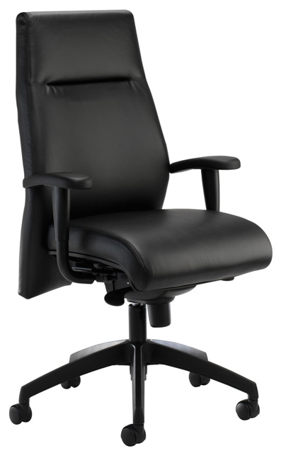 Essential Executive Chair with Height Adjustable Arms and in optional Leather Finish