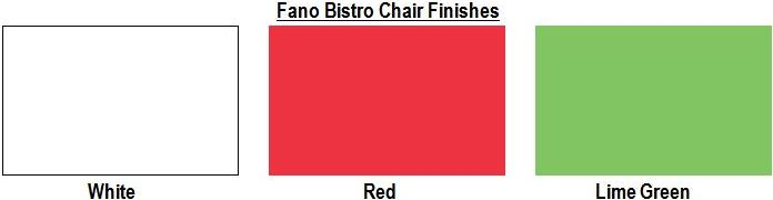 Fano Bistro Chair Finishes