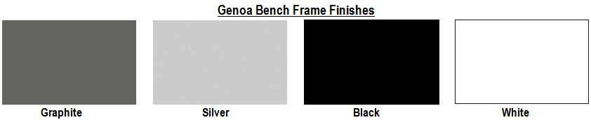 Genoa Bench Frame Finishes