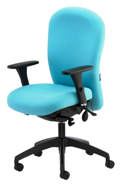Posturemax Chair with Height Adjustable Arms & Black Base