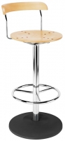 Bistro Hocker Chrome High Stool