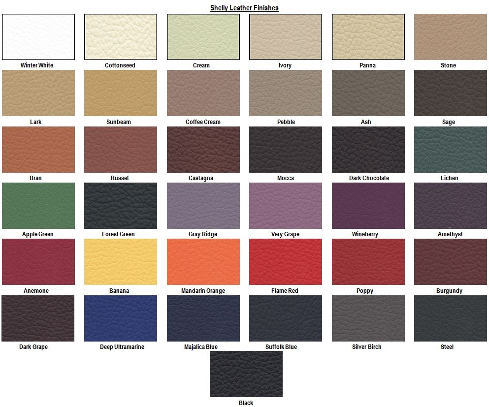 Shelly Leather Finishes