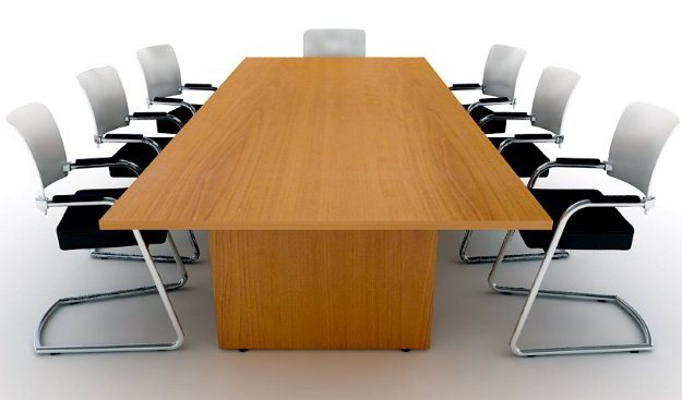 Harts FX Boardroom Table on H Frame