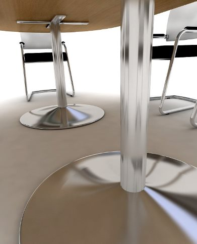 Harts FX Boardroom Table on Round Base